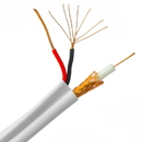 CableWholesale 10X3-18291NH Bulk RG59 Siamese Coaxial/Power Cable, White, Solid Core (Copper) Coax, 18/2 (18 AWG 2 Conductor) Stranded Copper Power, Spool, 1000 foot
