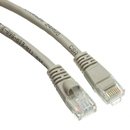 CableWholesale 10X6-02104 Cat5e Gray Ethernet Patch Cable, Snagless/Molded Boot, 4 foot