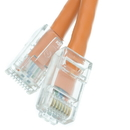 CableWholesale 10X6-13100.5 Cat5e Orange Ethernet Patch Cable, Bootless, 6 inch