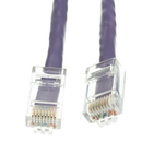 CableWholesale 10X6-14101 Cat5e Purple Ethernet Patch Cable, Bootless, 1 foot