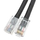 CableWholesale 10X8-12202 Cat6 Black Ethernet Patch Cable, Bootless, 2 foot