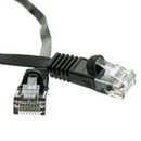 CableWholesale 10X8-62203 Cat6 Black Flat Ethernet Patch Cable, 32 AWG, 3 foot