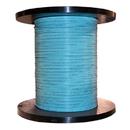 CableWholesale 11F2-306NH 6 Fiber Indoor Distribution Fiber Optic Cable, Multimode 50/125 OM3, Plenum Rated, Aqua, Spool, 1000ft