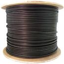 CableWholesale 11F3-306NH 6 Fiber Indoor/Outdoor Fiber Optic Cable, Multimode 50/125 OM3, Plenum Rated, Black, Spool, 1000ft