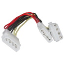 CableWholesale 11W3-01208 4 Pin Molex Power Y Cable, 5.25 inch Male to Dual 5.25 inch Female, 8 inch