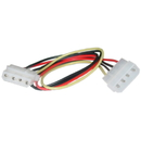 CableWholesale 11W3-04212 4 Pin Molex Extension Cable, 5.25 inch Male to 5.25 inch Female, 12 inch