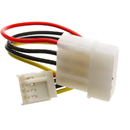 CableWholesale 11W3-05206 4 Pin Molex to Floppy Power Cable, 5.25 inch Male to 3.5 inch Female, 6 inch