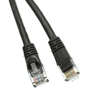 CableWholesale 13X6-022HD Cat6a Black Ethernet Patch Cable, Snagless/Molded Boot, 500 MHz, 100 foot