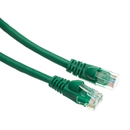 CableWholesale 13X6-05103 Cat6a Green Ethernet Patch Cable, Snagless/Molded Boot, 500 MHz, 3 foot