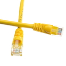 CableWholesale 13X6-08101 Cat6a Yellow Ethernet Patch Cable, Snagless/Molded Boot, 500 MHz, 1 foot
