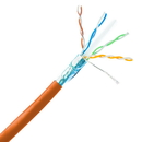 CableWholesale 13X6-531NH Bulk Shielded Cat6a Orange Ethernet Cable, 10 gig Solid, 500 Mhz, 23 AWG, Spool, 1000 foot