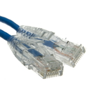 CableWholesale 13X6-66115 Cat6a Blue Slim Ethernet Patch Cable, Snagless/Molded Boot, 15 foot