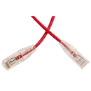 CableWholesale 13X6-67101 Cat6a Red Slim Ethernet Patch Cable, Snagless/Molded Boot, 1 foot