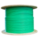 CableWholesale 14X4-161NF Bulk Dual Cat6 and Dual RG6U Quad Shield with Green Outer Jacket, Spool, 500 foot