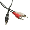 CableWholesale 2RCA-STE-6 3.5mm Stereo to RCA Audio Cable, 3.5mm Stereo Male to Dual RCA Male (Right and Left), 6 foot