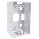 CableWholesale 300-625WH Single Gang Surface Mount Box, White