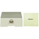 CableWholesale 300-66FF Phone Surface Mount Jack, Ivory, RJ11 / RJ12, Data / Voice, 6P6C (6 Pin 6 Conductor)