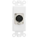 CableWholesale 301-1003 Decora Wall Plate Insert, White, XLR Female to Solder Type