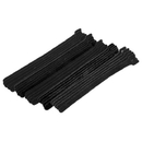 CableWholesale 30CT-02280 Black Hook and Loop Cable Strap w/ Eye, 0.50 inch x 8 inch, 25 Pack