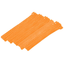 CableWholesale 30CT-03180 Orange Hook and Loop Cable Strap w/ Eye, 0.50 inch x 8 inch, 25 Pack