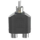 CableWholesale 30R1-03300 RCA Splitter / Adapter, RCA Male to Dual RCA Female