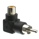 CableWholesale 30R1-90300 RCA Right Angle Adapter, RCA Female to RCA Male, 90 Degree Elbow