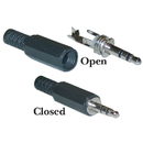CableWholesale 30S1-01100 3.5mm Stereo Male Connector with Plastic Hood, Solder Type
