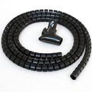 CableWholesale 30SL-02115 5ft Split Loom Cable Wrap, Black, 15mm diameter, Cable Management Wraps