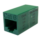 CableWholesale 30X8-33500 Cat6 Crossover Coupler, Green, RJ45 Female, Unshielded