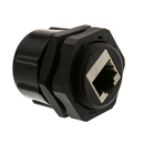 CableWholesale 30X8-72000 Shielded Outdoor Waterproof Cat6 Coupler, RJ45 Female to Female, With Cap, Wall Plate Mount