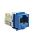 CableWholesale 310-120BL Cat5e Keystone Jack, Blue, RJ45 Female to 110 Punch Down