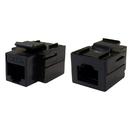 CableWholesale 310-220BK Cat5e Keystone Inline Coupler, Black, RJ45 Female
