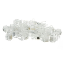 CableWholesale 31D0-6P6CF Phone / Data RJ12 Crimp Connectors for Flat Cable, 6P6C, 50 Pieces