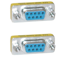 CableWholesale 31D1-07400 Serial Mini Gender Changer / Coupler, DB9 Female to DB9 Female