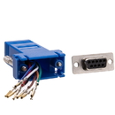 CableWholesale 31D1-1740BL Modular Adapter, Blue, DB9 Female to RJ45 Jack