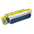 CableWholesale 31D3-22100 Serial Mini Gender Changer / Coupler, DB25 Male to DB25 Male