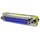 CableWholesale 31D3-22400 Serial Mini Gender Changer / Coupler, DB25 Female to DB25 Female