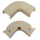CableWholesale 31R2-001IV 1.25 inch Surface Mount Cable Raceway, Ivory, Flat 90 Degree Elbow