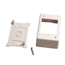 CableWholesale 31R5-100WH Single Gang Surface Mount Box for Raceways, low voltage, White