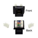CableWholesale 320-120BK Keystone Insert, Black, Phone/Data Jack, RJ11 / RJ12 Female to 110 Type Punch Down