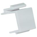 CableWholesale 321-120WH Blank Keystone Insert, White