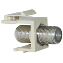 CableWholesale 322-120IV Keystone Insert, Beige, F-pin Coaxial Connector, F-pin Female Coupler