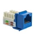 CableWholesale 326-120BL Cat6 Keystone Jack, Blue, RJ45 Female to 110 Punch Down
