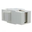 CableWholesale 333-320 Keystone Insert, White, USB 2.0 Type A Female Coupler