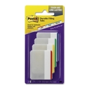 CableWholesale 3401-00119 3M Post-it Durable Filing Tabs, Blue, Green, Red, Yellow 2 in x 1.5 in, 6/Tabs/per/color, 4/colors pk