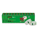 CableWholesale 3401-01104 3M Scotch Tape, Magic Trans Tape, 3/4 in x 1000 12/rolls pk Boxed