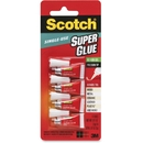 CableWholesale 3401-03101 3M Scotch Single Use Super Glue Gel, .07oz 4 tubes/pk