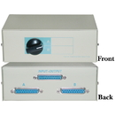 CableWholesale 40D3-17602 AB 2 Way Switch Box, DB25 Female