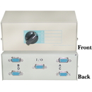 CableWholesale 40H1-03604 ABCD 4 Way Switch Box, HD15 (VGA) Female