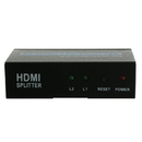 CableWholesale 41V3-02100 HDMI Amplified Splitter, 2 way, 1x2, HDMI High Speed with Ethernet, Metal Housing